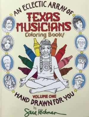 Award-Winning Children's book — An Eclectic Array of Texas Musicians Coloring Book!