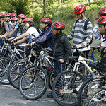 bike safety with helmets