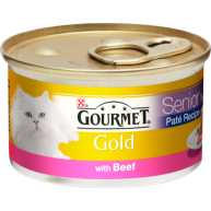 Gourmet Gold Pate With Beef Senior Cat Food 85g x 12