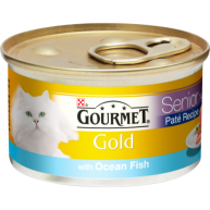 Gourmet Gold Pate With Ocean Fish Senior Cat Food 85g x 12