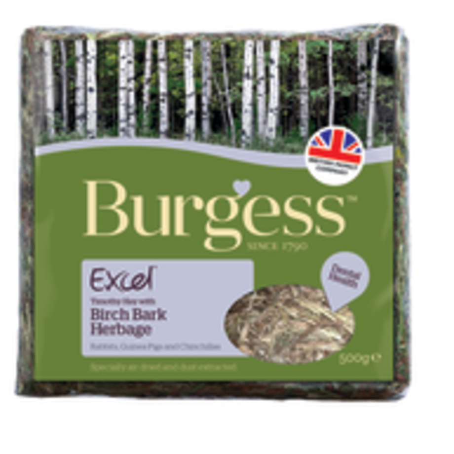 Burgess Excel Hay Birch Bark Herbage 500g