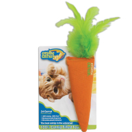 Cosmic Catnip 100% Cosmic Carrot Cat Toy Orange