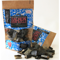 Green & Wilds Salmon Skin Rolls Dog Treats 50g
