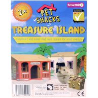 Smartkitz Cardboard Pet Shacks Treasure Island