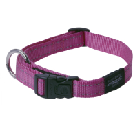 Rogz Utility Reflective Pink Dog Collar