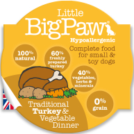 Little Big Paw Traditional Turkey & Veg Dinner Dog Food 85g x 8