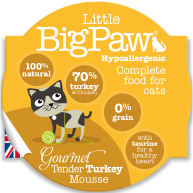 Little Big Paw Gourmet Tender Turkey Mousse Cat Food 85g x 8