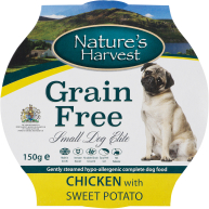 Natures Harvest Elite Chicken with Sweet Potato Small Dog Food 150g x 7