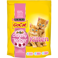 Go-Cat Crunchy And Tender Chicken Kitten Food 800g