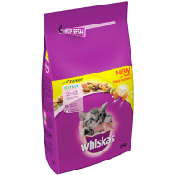 Whiskas 2-12 Months Chicken Dry Kitten Food  2kg