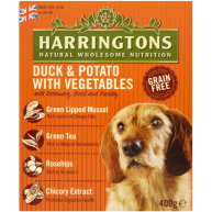Harringtons Duck & Potato Wet Dog Food 400g x 8