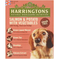 Harringtons Salmon & Potato Wet Dog Food 400g x 8