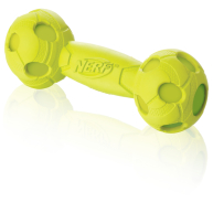 NERF Squeak Barbell Dog Toy Green