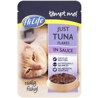 HiLife Tempt Me! Pouch Just Tuna Flakes in Sauce Adult Cat Food