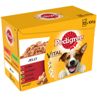 Pedigree Pouch Favourites Jelly Adult Dog Food 100g x 12