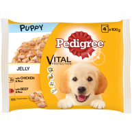 Pedigree Pouch Chicken & Beef Selection in Jelly Puppy Food