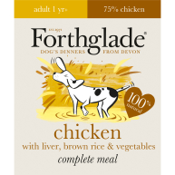 Forthglade Complete Chicken & Liver Adult Dog Food 395g x 18