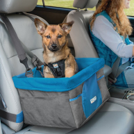 Kurgo Heather Dog Booster Seat  Charcoal/Blue