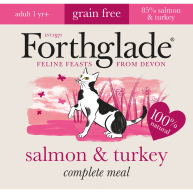 Forthglade Complete Salmon & Turkey for Cats 90g x 12