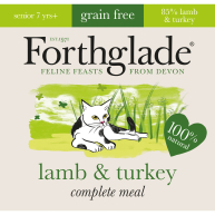 Forthglade Complete Lamb & Turkey for Senior Cats 90g x 12