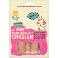Good Boy Pawsley & Co Jumbo Chicken Twisters Dog Treats 100g