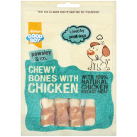 Good Boy Pawsley & Co Chewy Bones with Chicken Dog Treats 80g