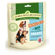 James Wellbeloved Minijacks Dog Treats 90g Duck
