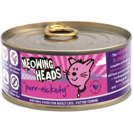 Meowing Heads Purr Nickety Wet Cat Food 100g x 6 Tins