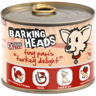 Barking Heads Tiny Paws Turkey Delight Wet Adult Dog Food 200g x 6