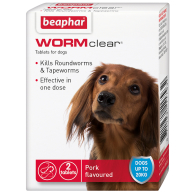 Beaphar WORMclear Dog Worming Tablets Dogs up to 20kg 2 Tablets