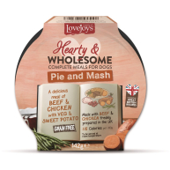 Lovejoys Hearty & Wholesome Pie & Mash Dog Food 142g x 7