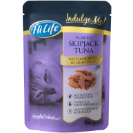HiLife Indulge Me Pouch Flaked Tuna & Mackerel in Light Jelly Adult Cat Food 16 x 80g
