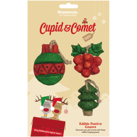 Rosewood Cupid & Comet Edible Festive Christmas Gnaws Small Pet Treat 3 pack