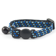 Ancol Softweave Elasticated Kitten Collar Black & Blue