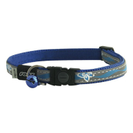 Rogz NightCat Blue Reflective Cat Collar