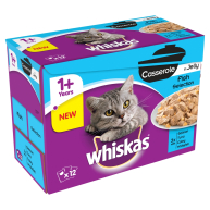 Whiskas 1+ Casserole Fish Selection in Jelly Adult Cat Food