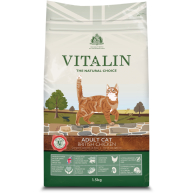 Vitalin Natural Chicken Dry Adult Cat Food 1.5kg