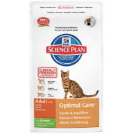 Hills Science Plan Feline Adult Optimal Care Rabbit
