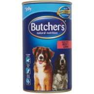 Butchers Beef & Liver Chunks in Jelly Dog Food