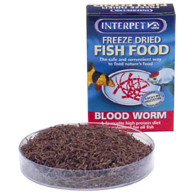 Interpet Blood Red Worm Fish Food 4gm