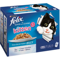 Felix As Good As  It Looks Fish Selection Kitten 100g x 12