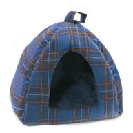 Cosipet Tartan Cat Igloo Blue