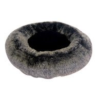 Mikki Luxury Snoozer Cat Bed Charcoal