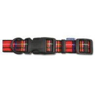 Ancol Tartan Nylon Dog Collar Size 5-9 Red