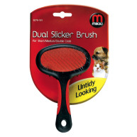 Mikki Dual Slicker Dog Brush For Short/medium/double Coats Small