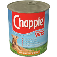 Chappie Can Chicken & Rice Adult Dog Food  825g x 12