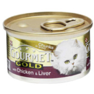 Gourmet Gold Chicken & Liver in Gravy Cat Food 85g x 12