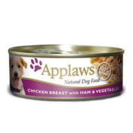 Applaws Chicken Ham & Vegetables Wet Can Adult Dog Food 156g x 12