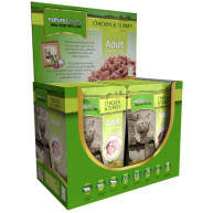 Natures Menu Chicken & Turkey Adult Cat Food Pouches 100g x 12