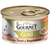 Gourmet Gold Trout & Vegetable Cat Food 12 x 85g